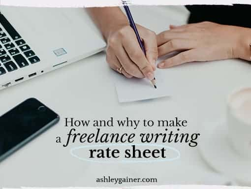 How and why to make a freelance writing rate sheet