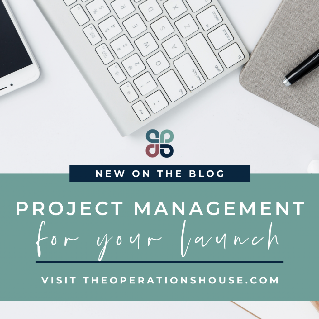 Project management for your launch