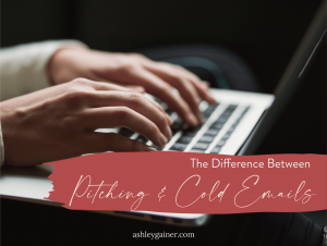 the difference between pitching and cold emails